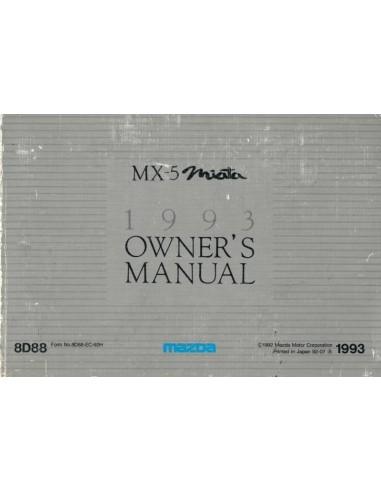 1993 MAZDA MX-5 MIATA BETRIEBSANLEITUNG ENGLISCH / FRANZÖSISCH