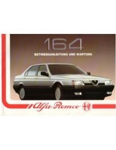 1988 ALFA ROMEO 164 INSTRUCTIEBOEKJE DUITS