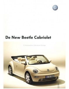 2003 VOLKSWAGEN NEW BEETLE CABRIOLET PROSPEKT NIEDERLÄNDISCH