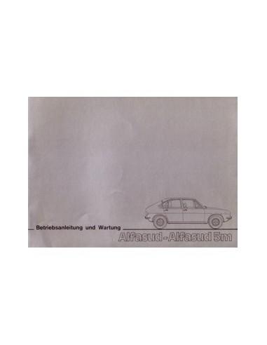 1977 ALFA ROMEO ALFASUD 5M INSTRUCTIEBOEKJE DUITS