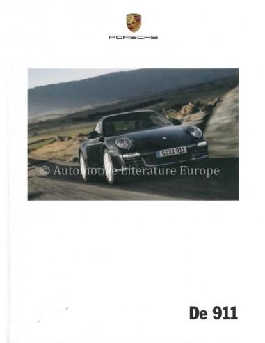 2010 PORSCHE 911 CARRERA & TARGA HARDCOVER PROSPEKT NIEDERLÄNDISCH