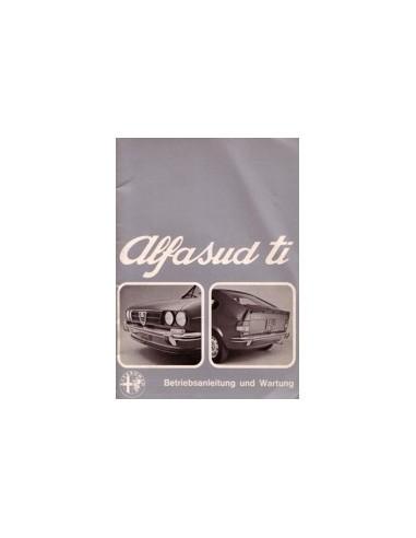 1974 ALFA ROMEO ALFASUD TI INSTRUCTIEBOEKJE DUITS