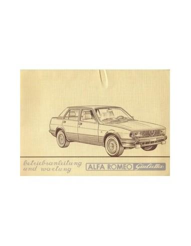 1982 ALFA ROMEO GIULIETTA INSTRUCTIEBOEKJE DUITS