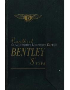 1956 BENTLEY S TYPE BETRIEBSANLEITUNG ENGLISCH