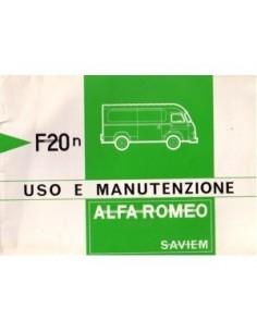 1973 ALFA ROMEO F20N SAVIEM INSTRUCTIEBOEKJE ITALIAANS