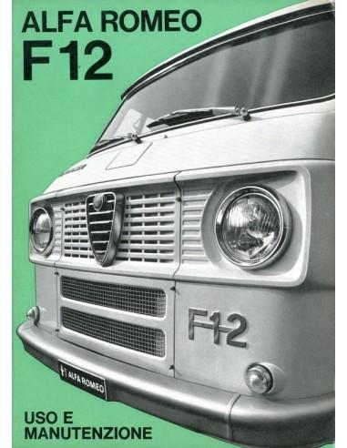 1967 ALFA ROMEO F12 INSTRUCTIEBOEKJE ITALIAANS