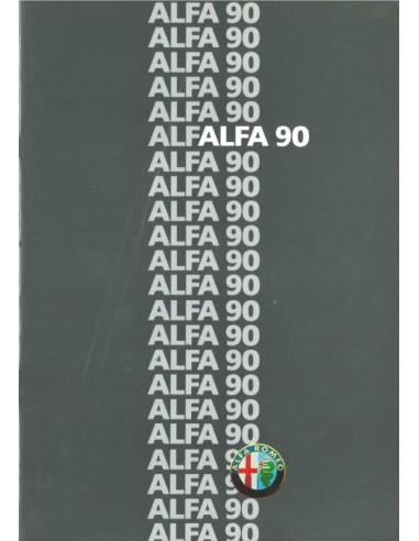 1986 ALFA ROMEO 90 BROCHURE NEDERLANDS