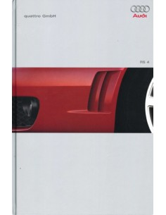 2000 AUDI RS4 HARDCOVER BROCHURE DUITS