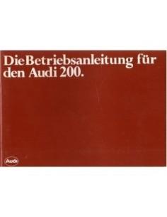 1982 AUDI 200 BETRIEBSANLEITUNG DEUTSCH