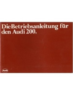 1982 AUDI 200 OWNERS MANUAL HANDBOOK GERMAN