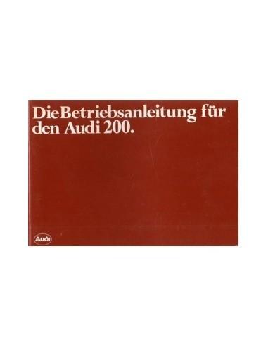 1982 AUDI 200 INSTRUCTIEBOEKJE DUITS