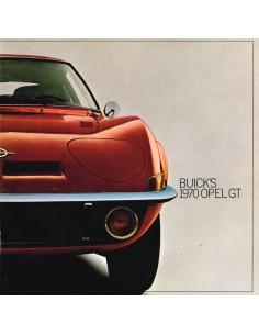 1970 OPEL BUICK'S OPEL GT PROSPEKT ENGLISCH