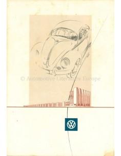 1952 VOLKSWAGEN KÄFER PROSPEKT NIEDERLÄNDISCH