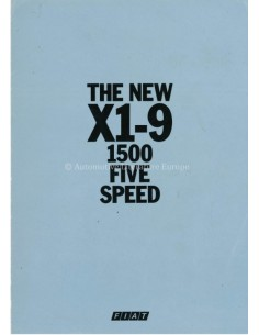 1979 FIAT X1-9 PROSPEKT ENGLISCH