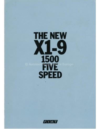 1979 FIAT X1-9 BROCHURE ENGLISH