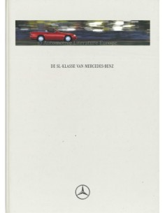 1996 MERCEDES BENZ SL HARDCOVER PROSPEKT NIEDERLÄNDISCH