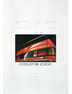 1987 HONDA CIVIC CRX PROSPEKT DEUTSCH