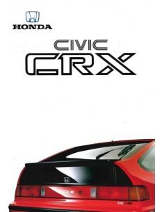 1988 HONDA CIVIC CRX PROSPEKT DEUTSCH