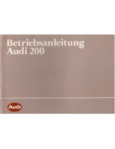 1983 AUDI 200 OWNERS MANUAL HANDBOOK GERMAN