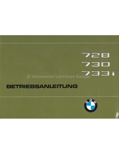 1978 BMW 7 SERIE INSTRUCTIEBOEKJE DUITS