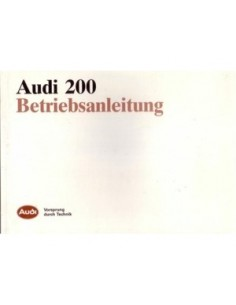 1986 AUDI 200 OWNERS MANUAL HANDBOOK GERMAN