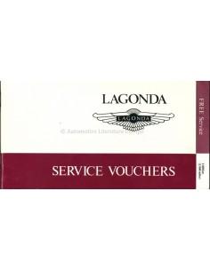 1982 ASTON MARTIN LAGONDA BLANKO SERVICE MANUAL VOUCHERS ENGLISCH