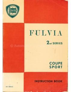 1971 LANCIA FULVIA COUPE SPORT INSTRUCTIEBOEKJE ITALIAANS