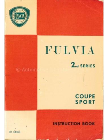 1972 LANCIA FULVIA COUPE SPORT BETRIEBSANLEITUNG ITALIENISCH