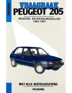 1983 - 1987 PEUGEOT 205 BENZIN DIESEL REPERATURANLEITUNG NIEDERLÄNDISCH