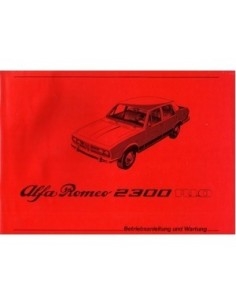 1979 ALFA ROMEO RIO 2300  OWNERS MANUAL GERMAN