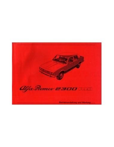 1979 ALFA ROMEO RIO 2300 INSTRUCTIEBOEKJE DUITS