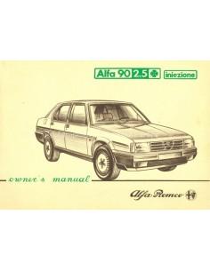 1984 ALFA ROMEO 90 2.5 Q INIEZIONE BETRIEBSANLEITUNG ENGLISCH
