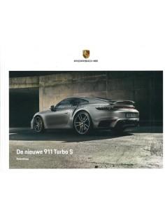 2020 PORSCHE 911 TURBO S HARDCOVER PROSPEKT NIEDERLÄNDISCH