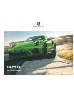 2020 PORSCHE 911 GT3 RS HARDCOVER PROSPEKT FRANZÖSISCH