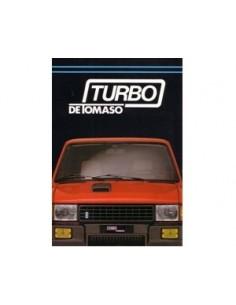 198? INNOCENTI DE TOMASO TURBO BROCHURE ITALIAN