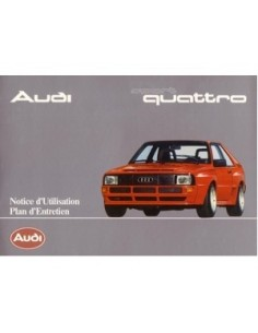 1985 AUDI SPORT QUATTRO OWNERS MANUAL HANDBOOK FRENCH