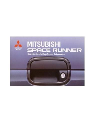 1991 MITSUBISHI SPACE RUNNER INSTRUCTIEBOEKJE NEDERLANDS FRANS