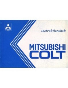 1991 MITSUBISHI COLT OWNERS MANUAL HANDBOOK DANISH