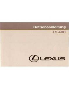 1990 LEXUS LS 400 INSTRUCTIEBOEKJE DUITS