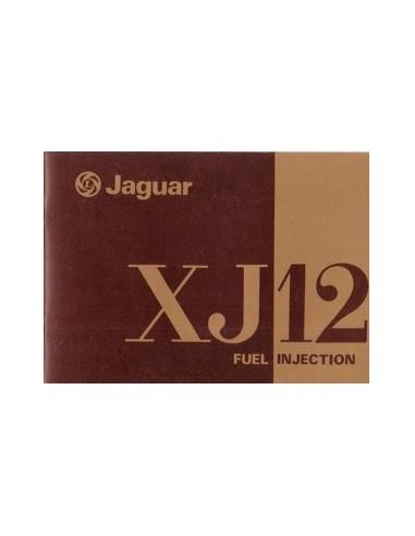 1976 JAGUAR XJ12 FUEL INJECTION INSTRUCTIEBOEKJE ENGELS