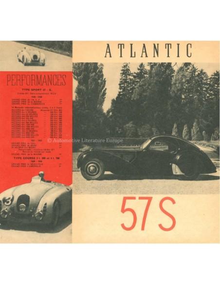 1937 BUGATTI ATLANTIC / STELVIO 57S BROCHURE FRENCH