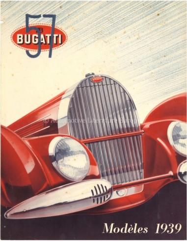 1939 BUGATTI TYPE 57 BROCHURE FRENCH