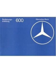 1977 MERCEDES BENZ 600 OWNERS MANUAL GERMAN