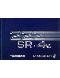 1992 MASERATI 222 SR 4V OWNERS MANUAL HANDBOOK FRENCH GERMAN
