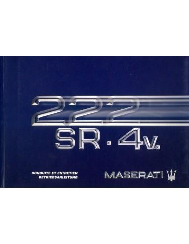 1992 MASERATI 222 SR 4V INSTRUCTIEBOEKJE FRANS DUITS