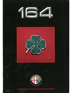 1990 ALFA ROMEO 164 QV PROSPEKT NIEDERLANDISCH