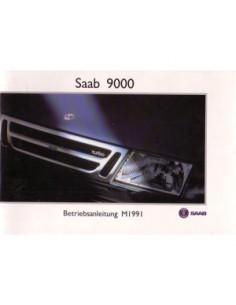 1991 SAAB 9000 OWNERS MANUAL HANDBOOK GERMAN