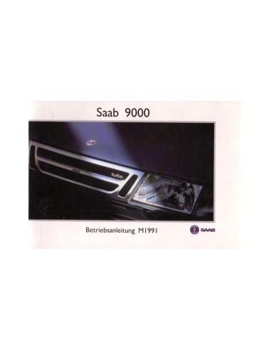 1991 SAAB 9000 INSTRUCTIEBOEKJE DUITS