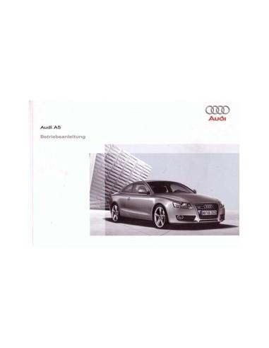 2009 AUDI A5 INSTRUCTIEBOEKJE DUITS