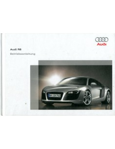 2006 AUDI R8 HARDCOVER OWNER'S MANUAL GERMAN